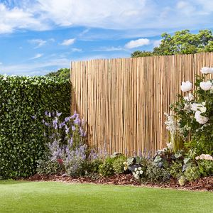 Waltons Thick Natural Bamboo Fencing Screening