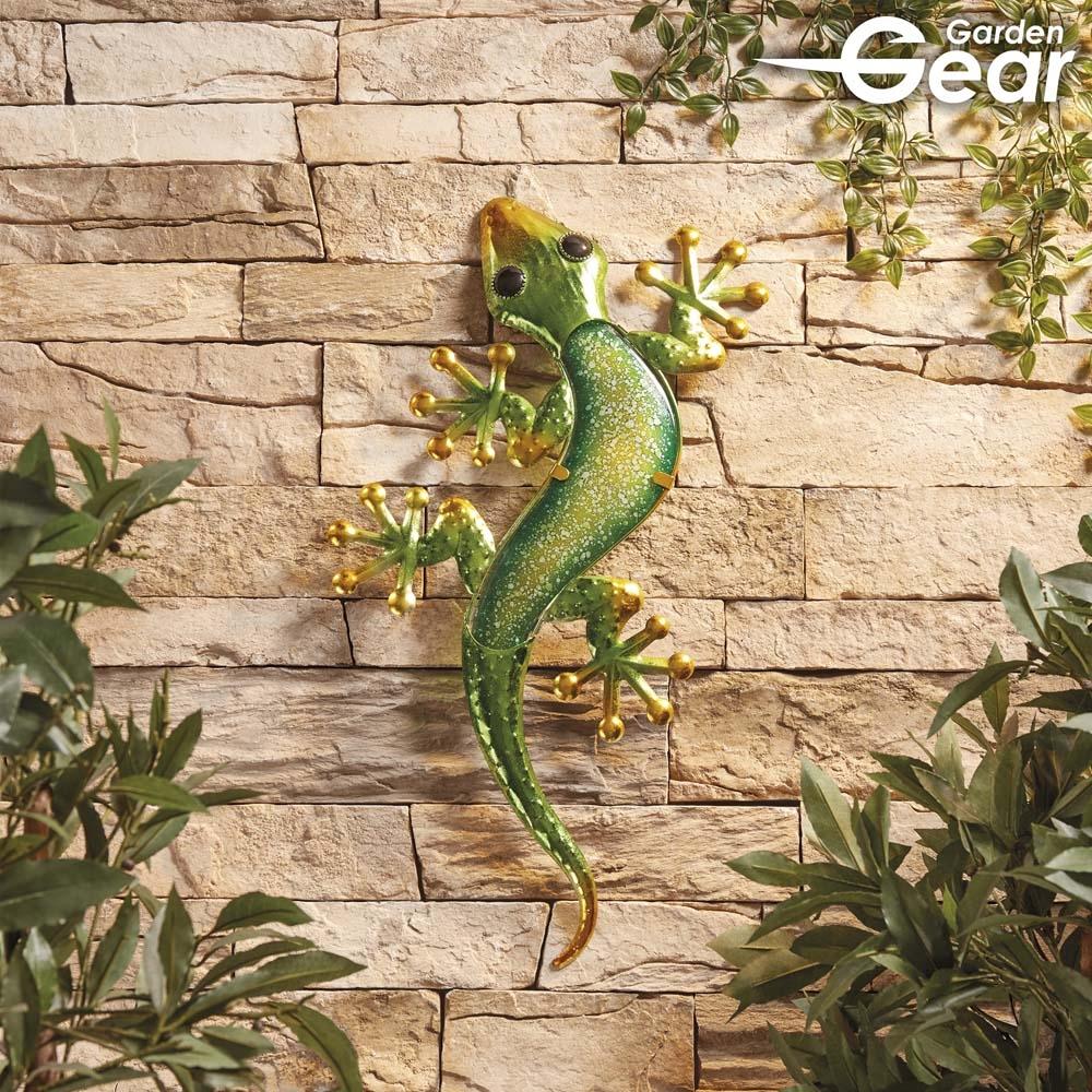 Garden Gear Metal and Glass Gecko Wall Art | Garden Gear